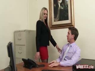 blonde secretary fucks boss