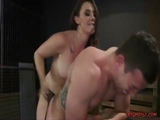 Vigorous Domina Strapon Fucking Her Slave