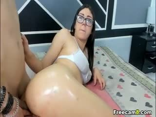 Cute Nerdy Chick Gets Fucked From Behind