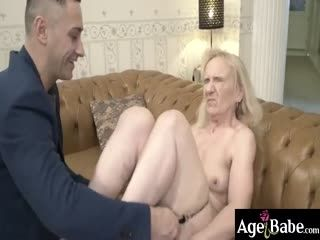 Granny Nanney Spread Her Legs Wide Open For Mugur's Massive Cock