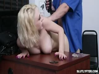 To Avoid Police Involvement, Skylar Agrees That Peter Bang Her Tight Pink Pussy