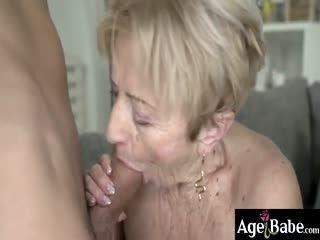 Granny Malya's Wrinkled Face Got A Warm Big Load