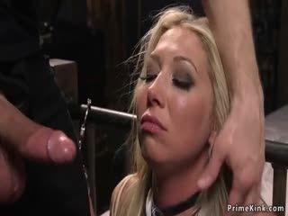 Busty Tied Blonde Is Rough Fucked