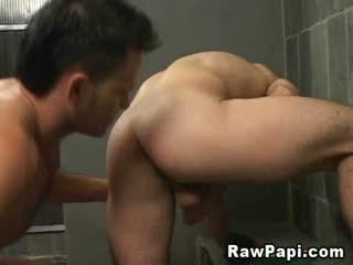 Latino Gays Having Anal Fucks On Shower Room