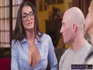Busty MILFs Enjoyed A Big Hard Cock After A Massage