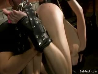 Bound Brunette Is Rough Anal Fucked