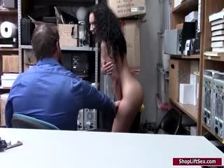 Latina Cashier Facefucked By LP Officer