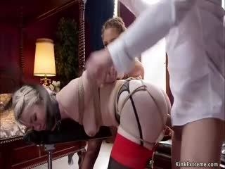 Blonde And Brunette Are Anal Banged