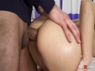 Slender Brunette Gets Her Butthole Wrecked