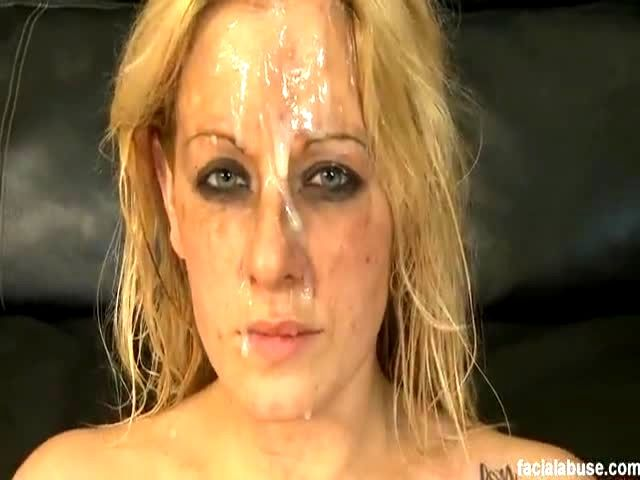 whore makeup blonde fucked