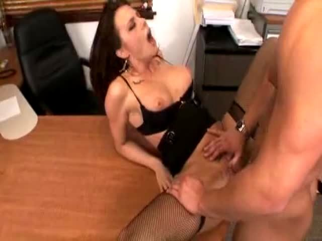 a hot secretary fucks her boss in office porn video