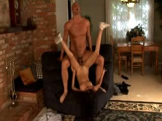 A Skinny Girl Is Fucked By A Macho Dude