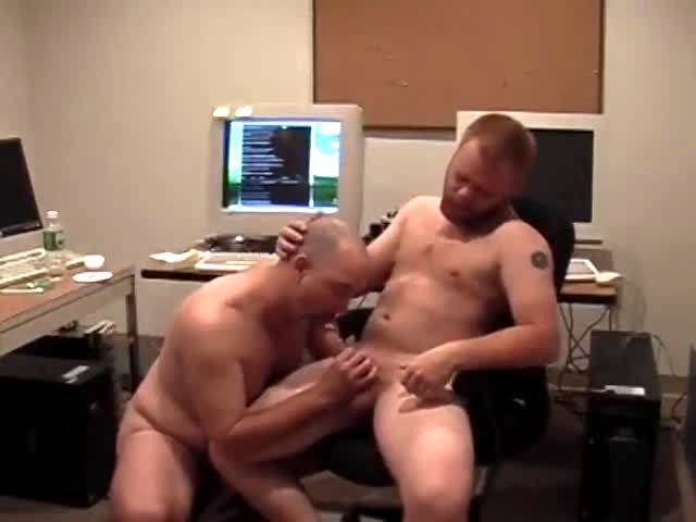 Throated office hunk bare fucked and spunked