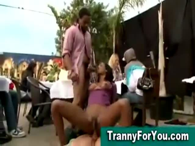black tranny getting dick sucked