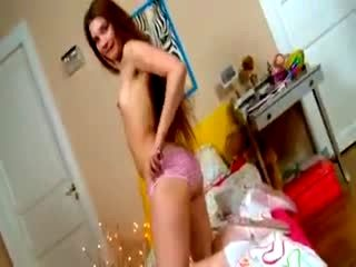 Young Brunette Masturbating In Her Room