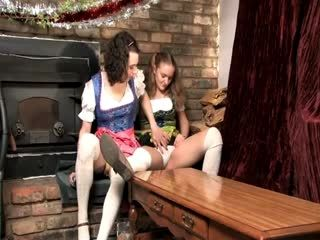 Crossdresser Plays With And Fucks A German Barmaid