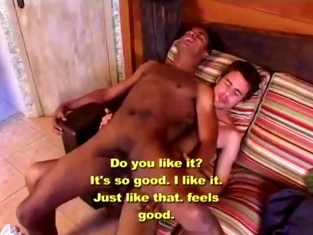 Gay black on white threesome