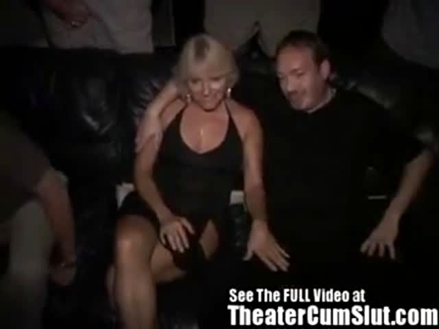 Sexy, milf at theater