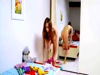 Naughty Skinny Teenager Stripping
