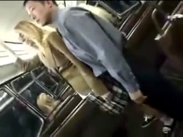 Asian stewardess handjob on bus in All above