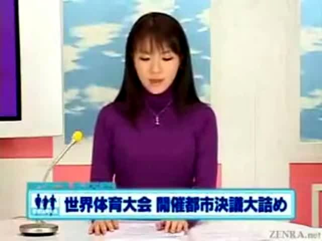 All asian newscaster bukkake would