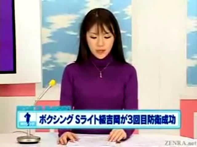 Japanese newscaster cumshot cumpilation