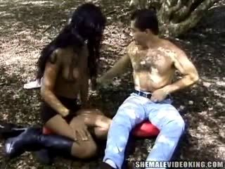 Outdoor Sex For Latina Tranny And Her Fuckers Delight